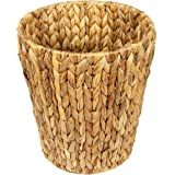 Woodluv Natural Water Hyacinth Waste Paper Bin Basket