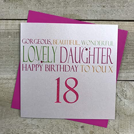 Happy 18th Birthday Daughter Card