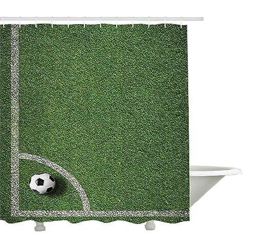 Yeuss Deportes Cortina de Ducha, Balón de fútbol Posición de Kick ...