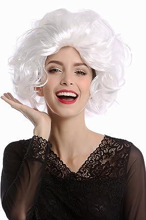 WIG ME UP ® - 1353-P68 Peluca mujer Carnaval Halloween estilo Diva Hollywood corta