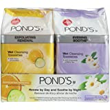 Pond's Towelettes Exfoliating and Evening Wet Cleanser, 30 Count