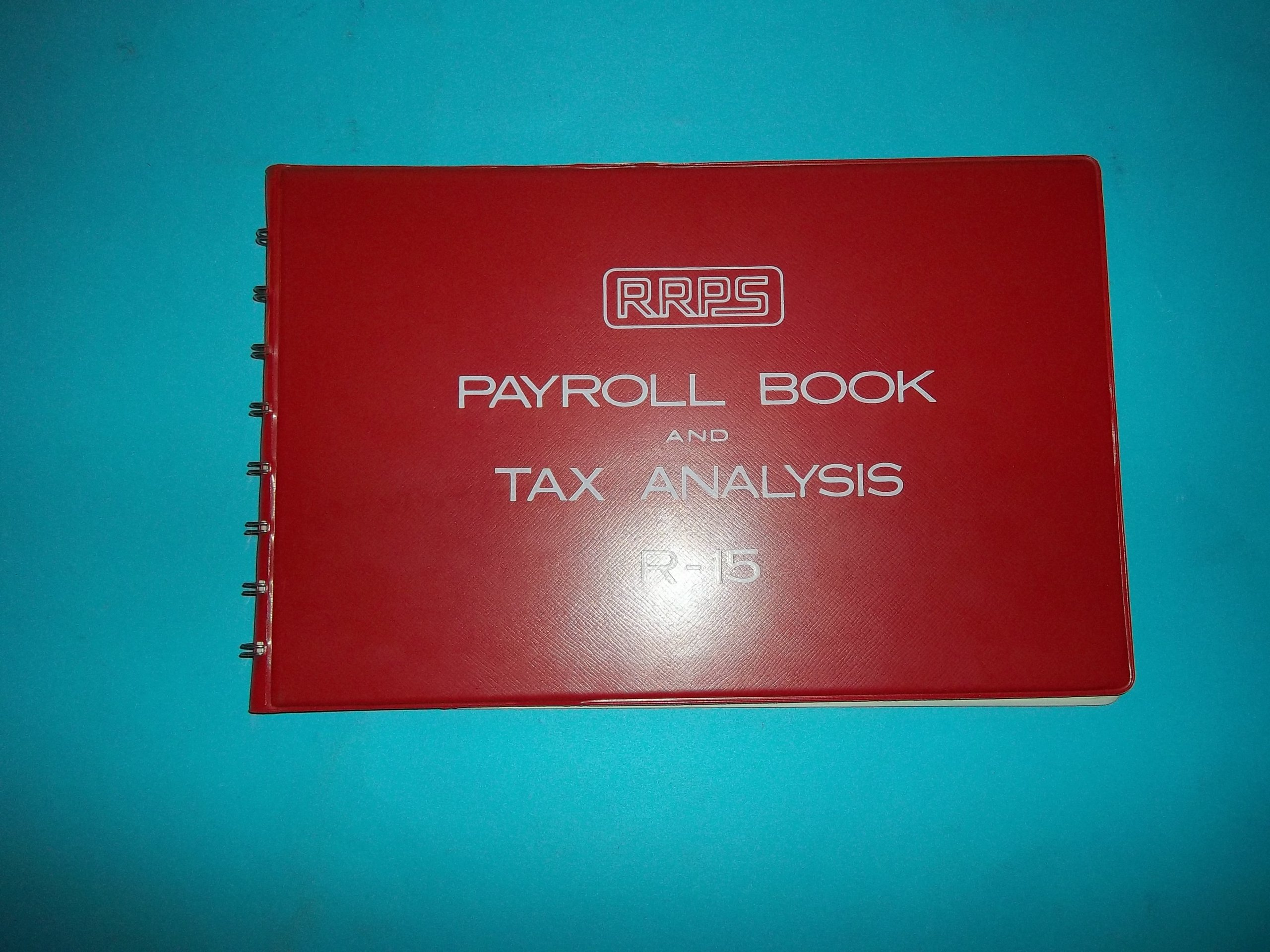 RRPS R-15 Redi-Record Payroll Systems Payroll Book and Tax Analysis Red