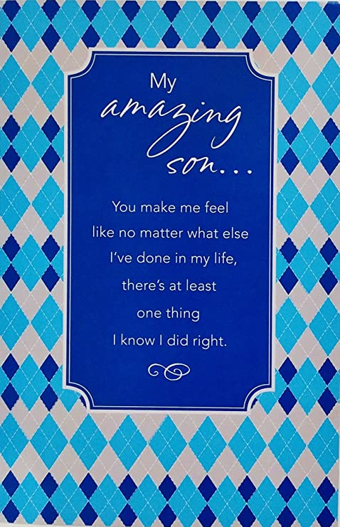 Amazon My Amazing Son Happy Birthday Greeting Card I Love You More Than Youll Ever Know Office Products