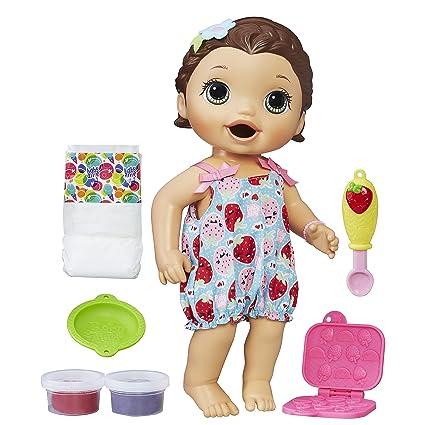 b122e374e Boneca Baby Alive Lanchinhos Divertidos Hasbro Morena  Amazon.com.br ...