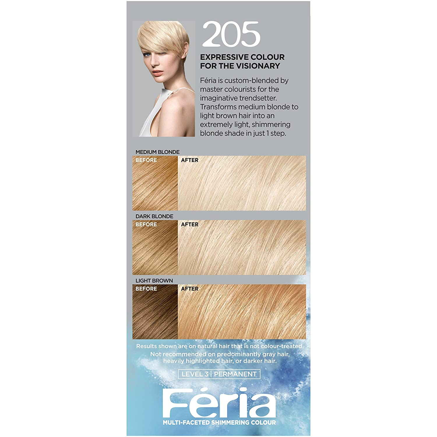 The look at home using l oreal paris feria smokey pastels in p2 smokey - Buy L Oreal Paris Feria Extra Bleach Blonde 205 Online At Low Prices In India Amazon In