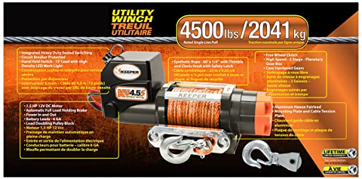 Amazon.com: Keeper KU3.5S 12V DC Utility, Trailer and Recovery Winch - 3500 lbs. Capacity: Automotive