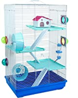 Little Zoo Large Holly Hamster Cage in Blue