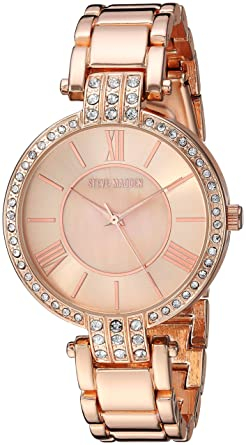 d95adb8411f Amazon.com  Steve Madden Women s Quartz Watch with Alloy Strap