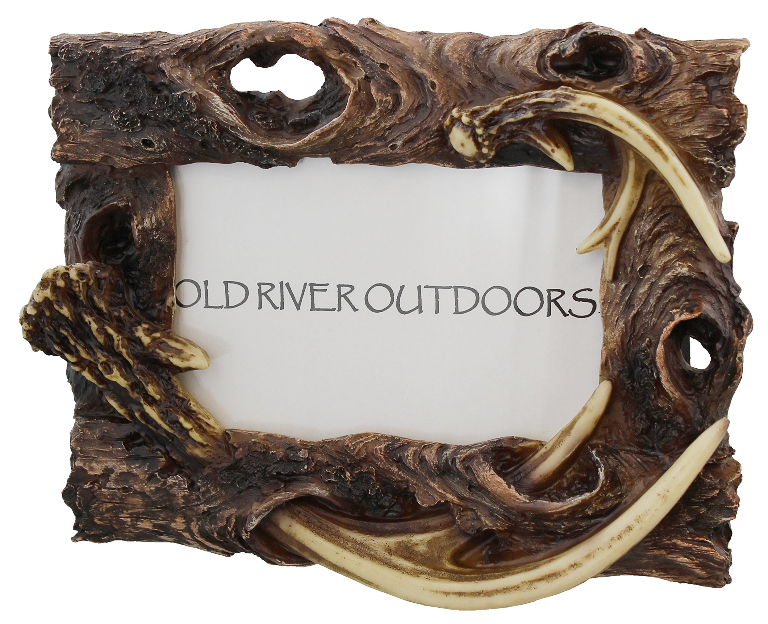 Rustic Antler / Driftwood 4x6 Picture Photo Frame