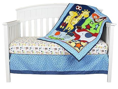 Amazon.com: Ready Set Go 3 piezas bebé Juego de ropa de cama ...