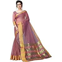 Perfectblue Women's Linen Saree With Blouse Piece (PalluCotton3Variation)