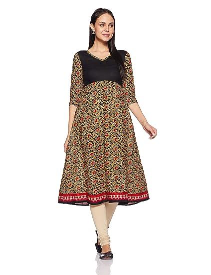 282d9c6b7 Libas Women s Anarkali Kurta (2895XS Black)  Amazon.in  Clothing ...
