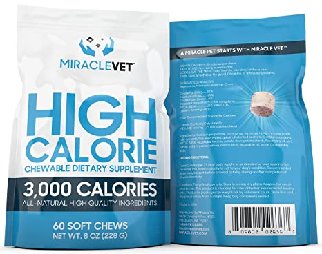 Amazon Miracle Vet Weight Gaining Chews For Dogs 60 Chews