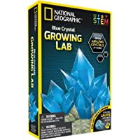 NATIONAL GEOGRAPHIC Blue Crystal Growing Lab - DIY Crystal Creation - Includes Real Calcite Crystal Specimen