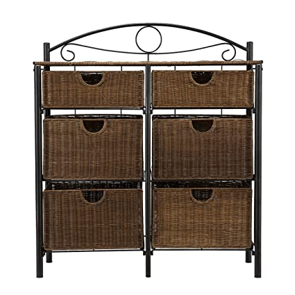 Charmant SEI Iron/Wicker Storage Chest