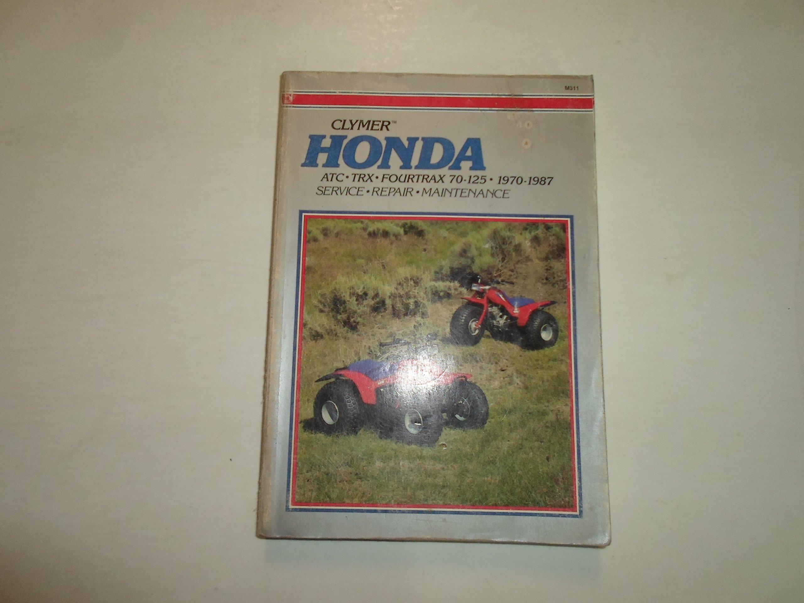 1970 1987 Clymer Honda Atc Trx Fourtrax 7 125 Service Repair Atlas Cd 70 Wiring Diagram Maintenance Manual Suzuki Automotive Literature Books