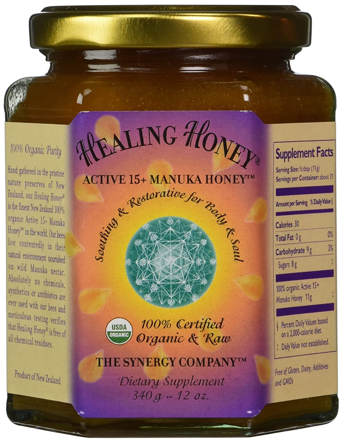 Amazon com : Healing Honey - Active Manuka 15+ 12oz : Menuka