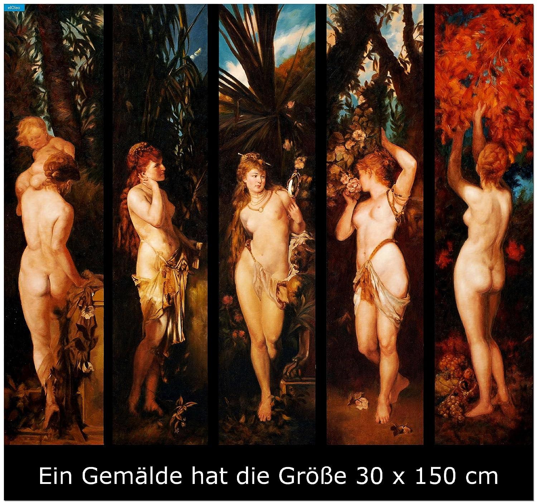 elOleo 80178A Hans Makart - Die fünf Sinne 140x150 ölgemälde auf Leinwand handgemalt - in Museumsqualität