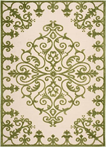 Rug Squared Kona Indoor Outdoor Area Rug , 9-Feet 6-Inches by 13-Feet, Green