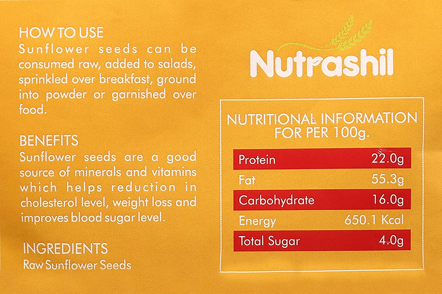 Nutrashil Sunflower Seeds 150g Amazon In Grocery Gourmet Foods