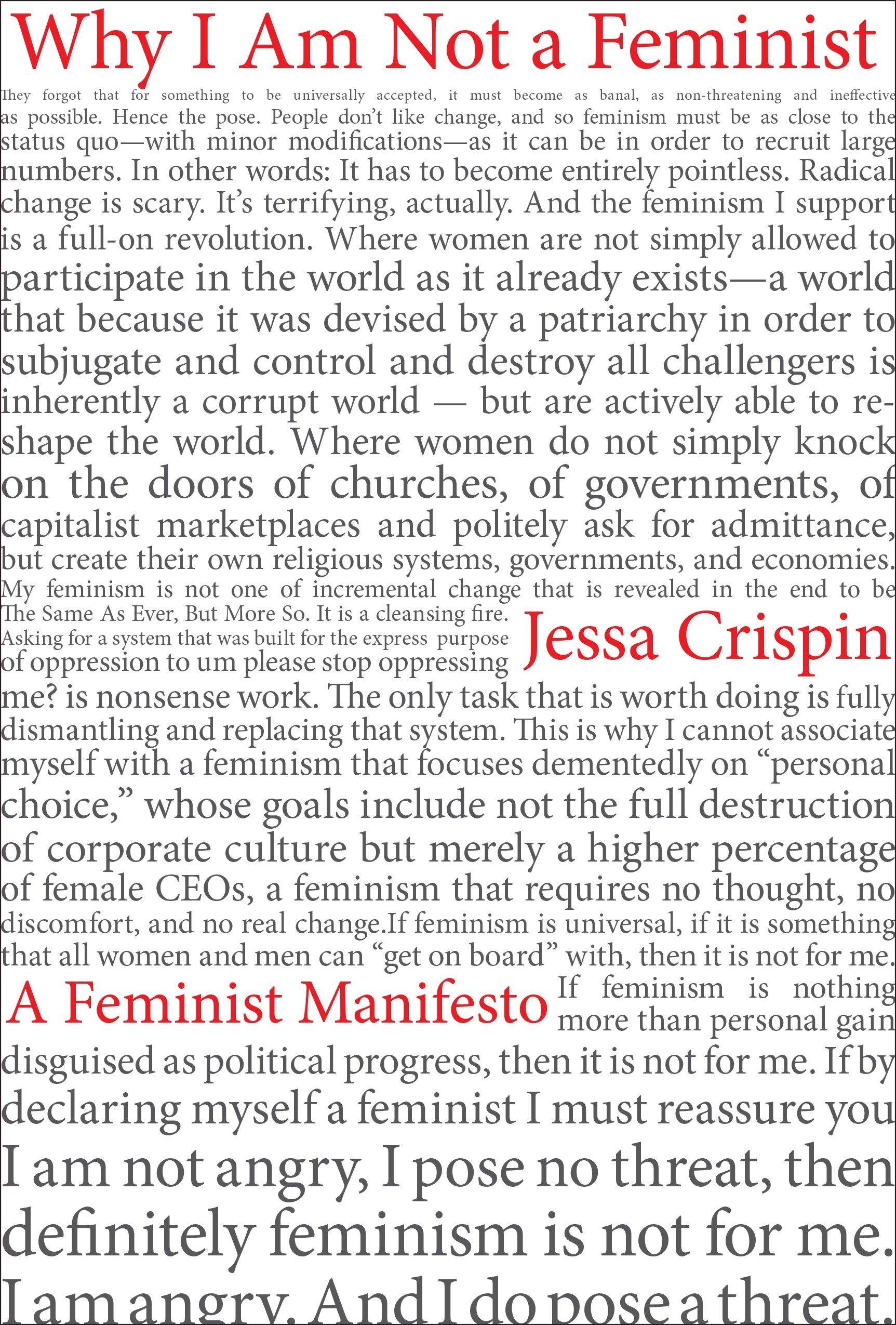amazon why i am not a feminist a feminist manifesto jessa