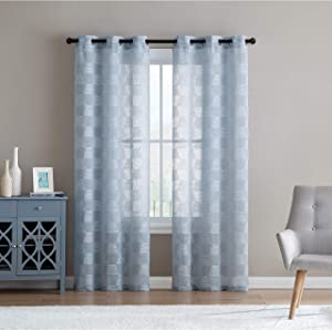 VCNY Home Jolie Window Treatment Curtains 76x95, Blue