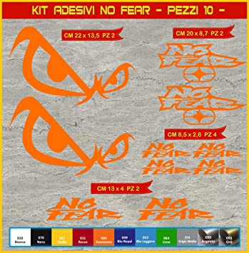 Pimastickerslab Adesivi Stickers No Fear Moto Motorbike cod.0633