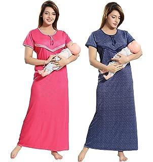 2c395863bb TUCUTE Women Beautiful Polka Dotts Print + Denim Base Print with V Pattern  Feeding Maternity