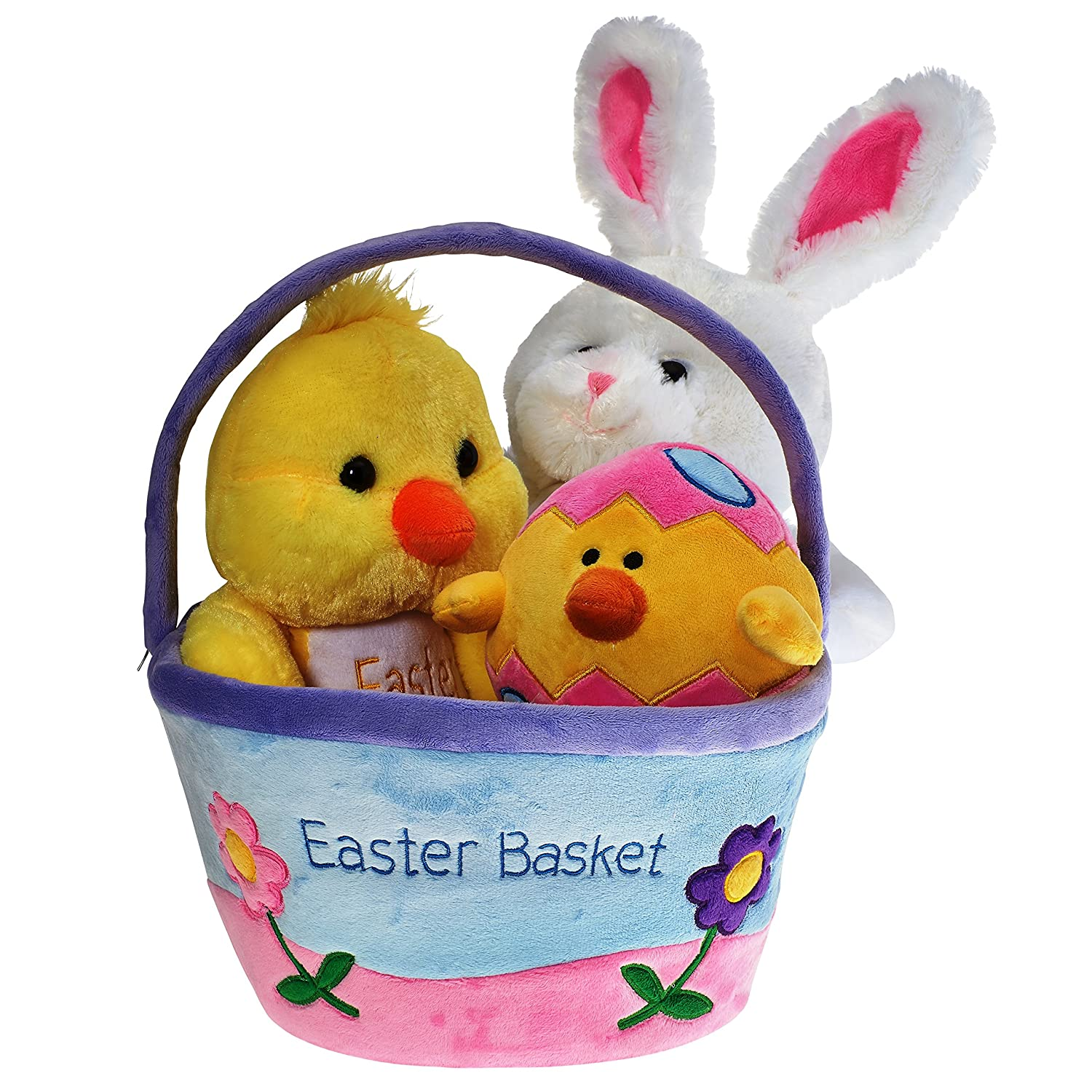 Amazon plush easter basket for baby toddler kids of all amazon plush easter basket for baby toddler kids of all ages set includes plush easter bunny plush easter egg plush easter chick easter basket negle Images