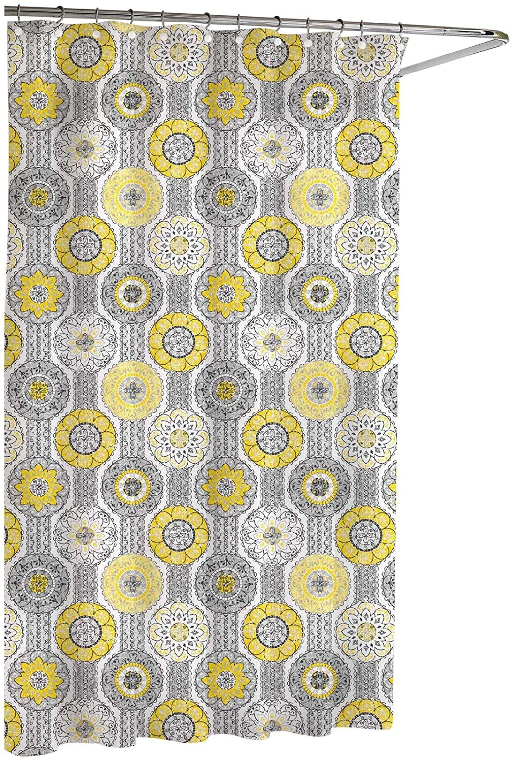 Yellow and gray shower curtain - Amazon Com Kassatex Urban Tiles Shower Curtain Yellow Grey 72 By 72 Inch Home Kitchen