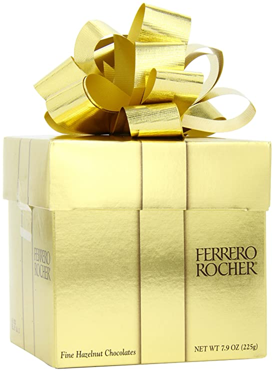Amazon Com Ferrero Rocher Gift Cube 18 Count Grocery Gourmet Food