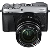 Fujifilm X-E3 Mirrorless Digital Camera w/XF18-55mm Lens Kit - Silver (Renewed)