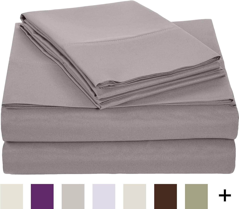 microfiber sheet set queen dark grey