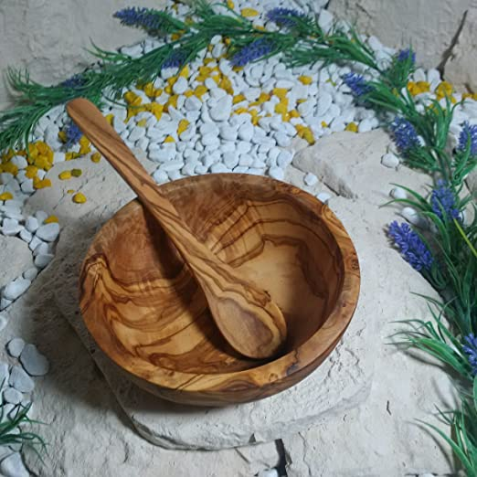 D.O.M Taz/ón de madera de olivo con cuchara