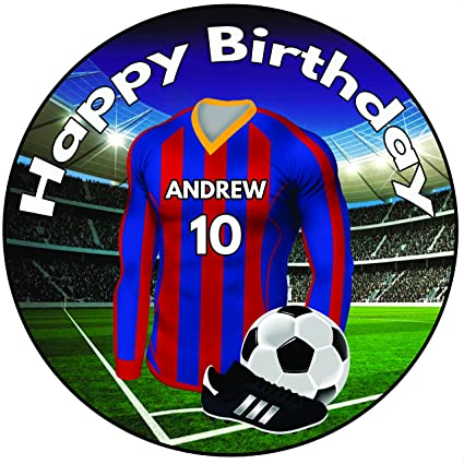 e0a4c0f61 Personalised Football Birthday Cake Topper - 8