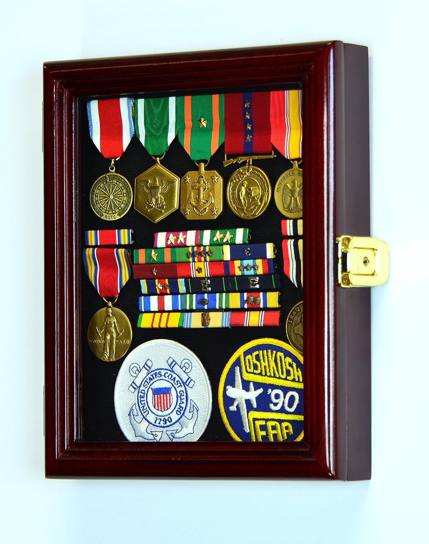 XS Display Case Caja de armario para Militar Medallas Pins Parches Insignia lazos W/protección UV: Amazon.es: Deportes y aire libre