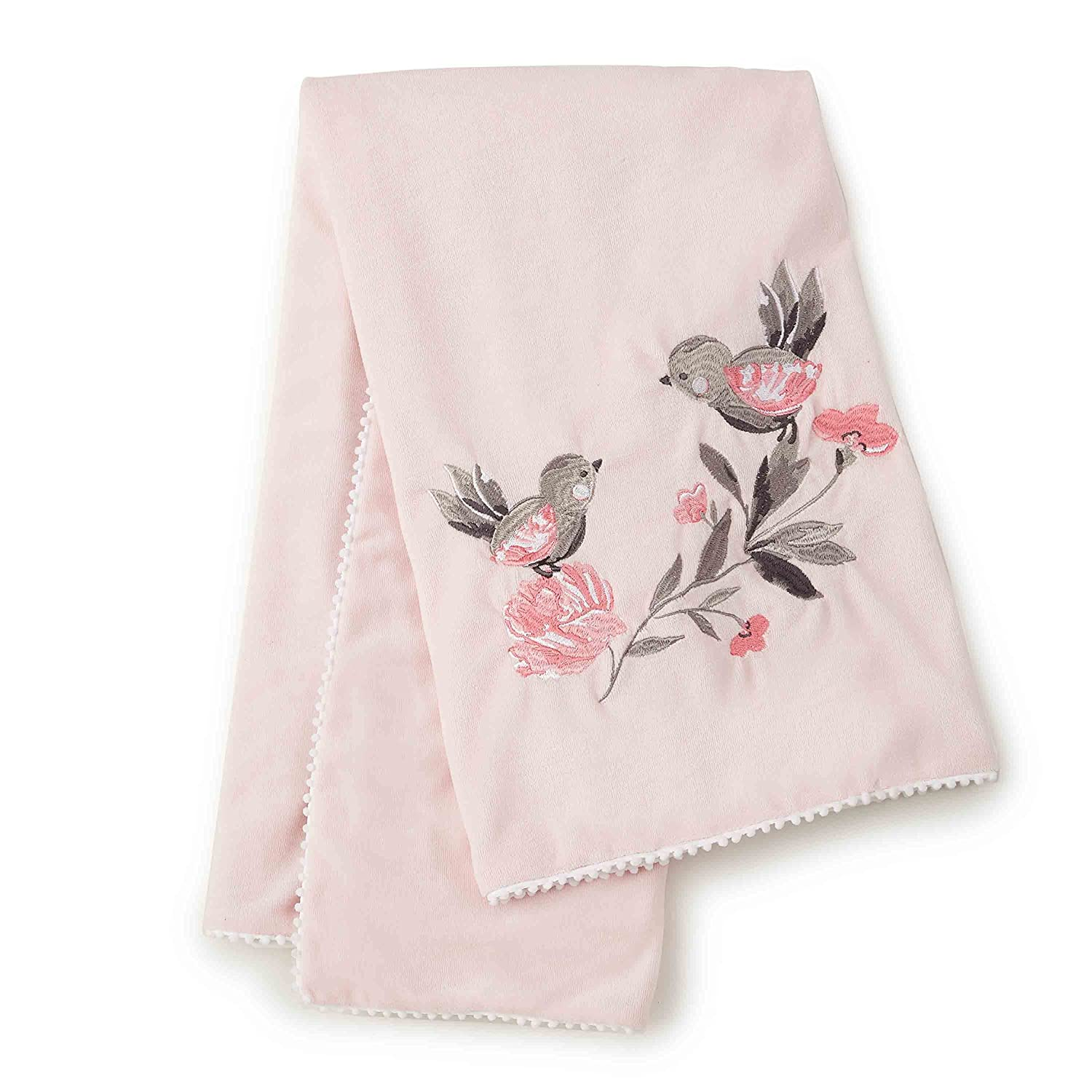 Levtex Baby Elise Grey and Pink Floral Changing Pad Cover