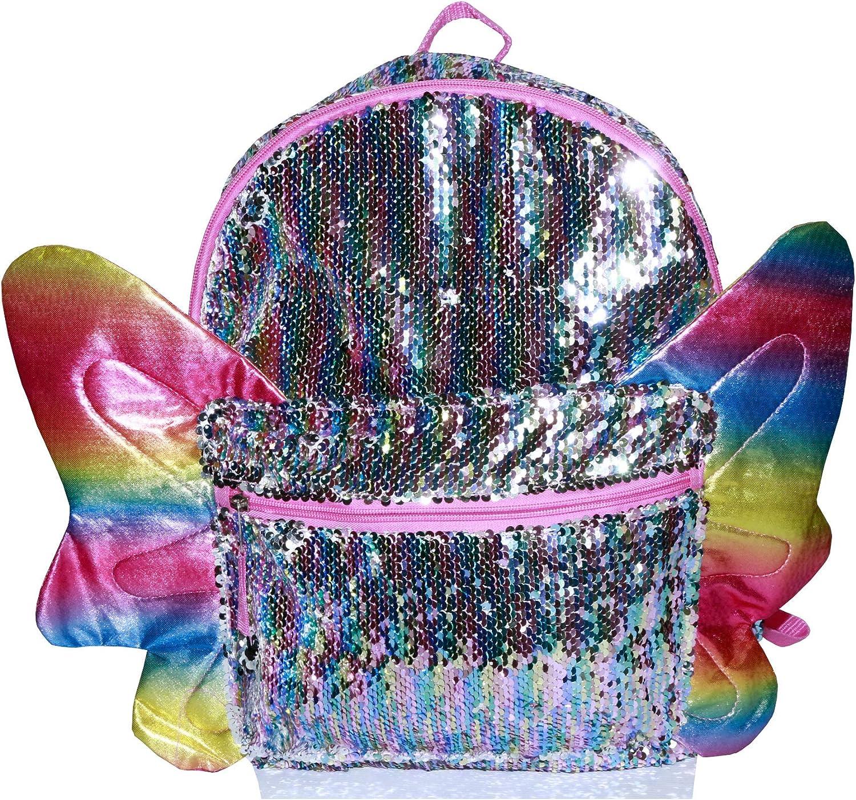 Wonder Nation Unicorn Sequin School Backpack Book /& Lunch Box Bag