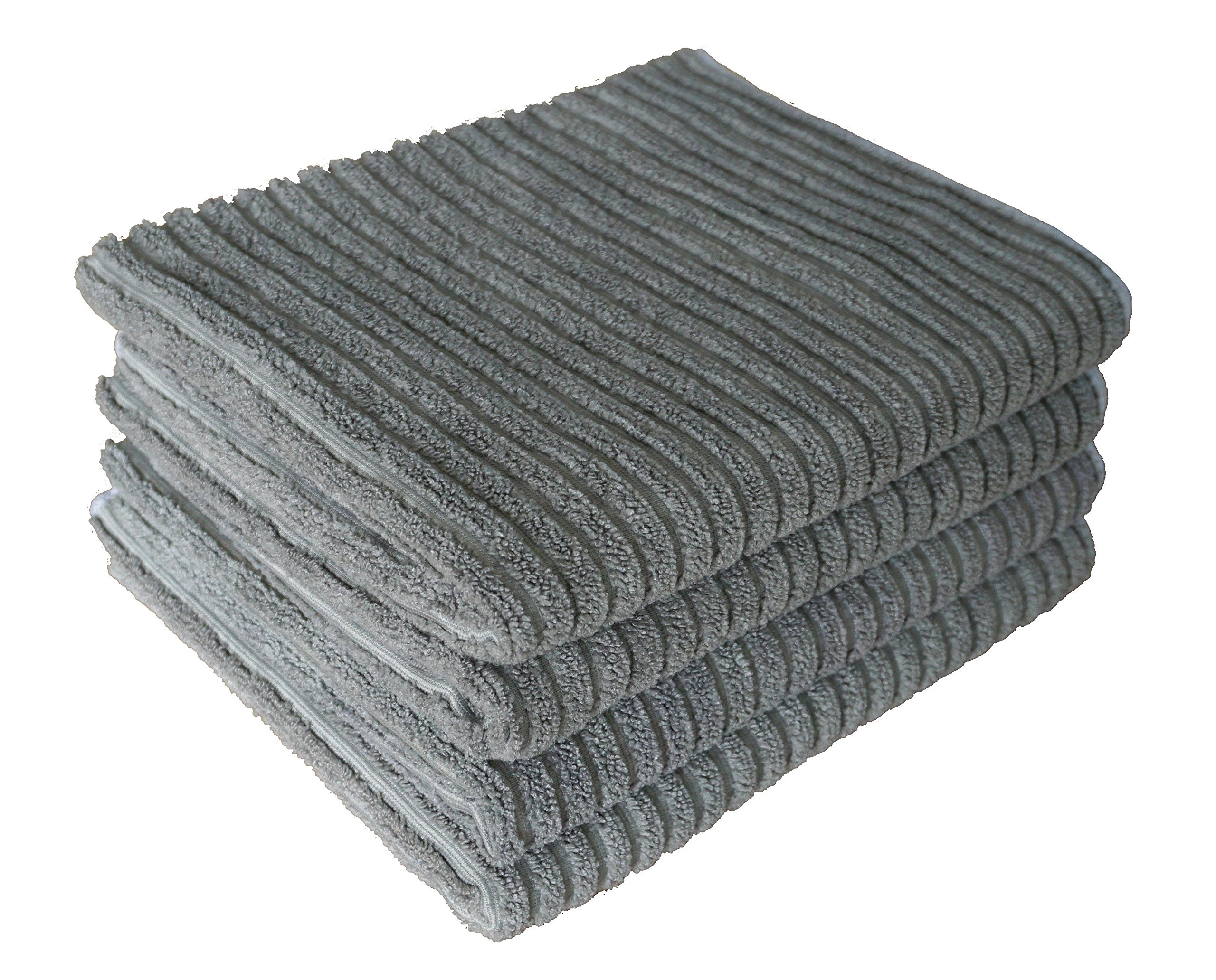 Gryeer Bamboo Microfiber Kitchen Towels - stack