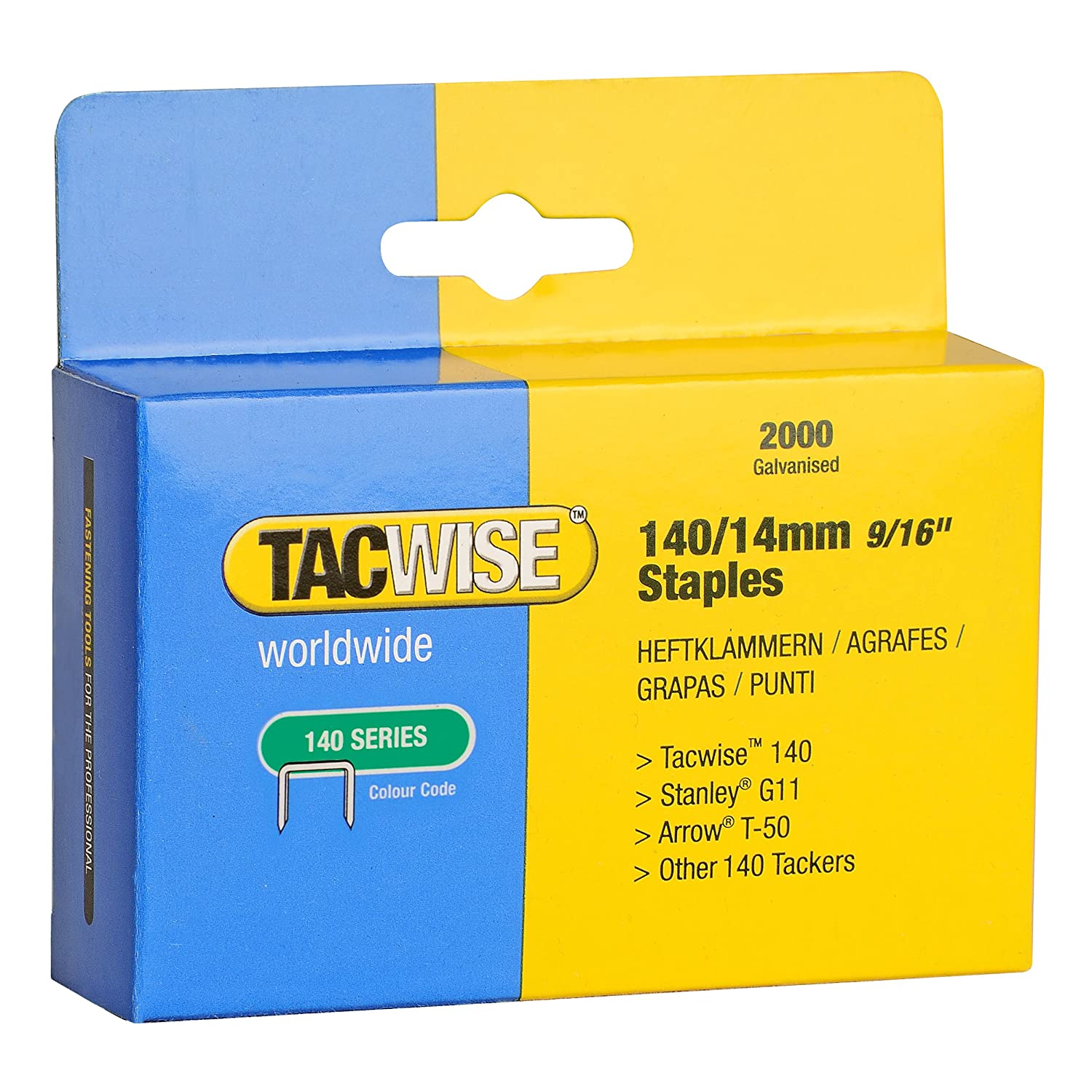 Tacwise 140 14mm Staples For Staple Gun 2000 Amazoncouk Office Products