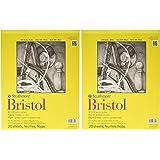 "2-Pack - Strathmore 300 Series Bristol Vellum Pad, 11""x14"" Tape Bound, 20 Sheets per Pack"