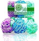 Amazon Price History for:Lulu Essentials Premium Loofah Bath and Shower Sponge Mesh Pouf, Multi - Color (6 Pack) Body Luffa Scrubber Puff