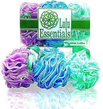 Lulu Essentials Premium Quality Loofah Multi   Color (6 Pack) Bath And  Shower Sponge