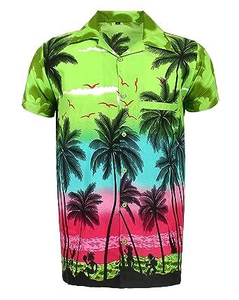 4bc85052a SAITARK Mens Hawaiian Shirt Stag Beach Hawaii Aloha Party Summer Holiday  Fancy S to XXL: Amazon.co.uk: Clothing