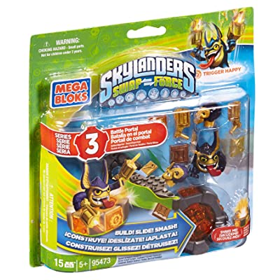 Mega Bloks Skylanders Legendary Trigger Happy Battle Portal: Toys & Games