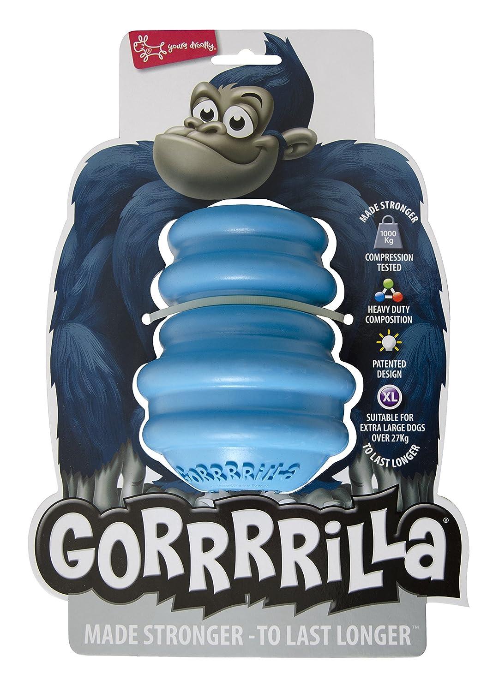 EUROPET Jouet pour Chien Gorrrrilla Classic Rubber Toy Extra Large Blue, 27kg XAL791