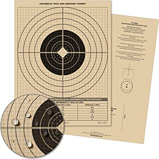 """product image for Rite in the Rain Weatherproof 25 Meter Target, 8 1/2"""" x 11"""", Tan, M4 / M16 Short Range Front, M4 / M16 Graphic Training Back, 100 Sheet Pack (No. 9126)"""