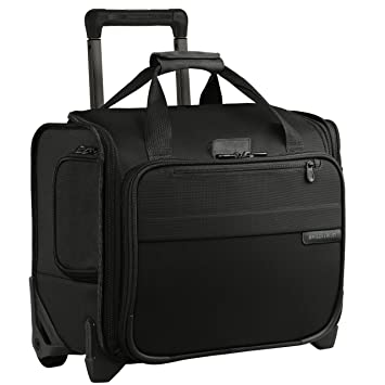 44f1caf29 Amazon.com | Briggs & Riley Baseline Rolling Cabin Bag, Black, Small |  Carry-Ons