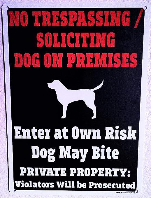 Beware Of Dog Sign - sólo jurídica de la mundo de perro ...