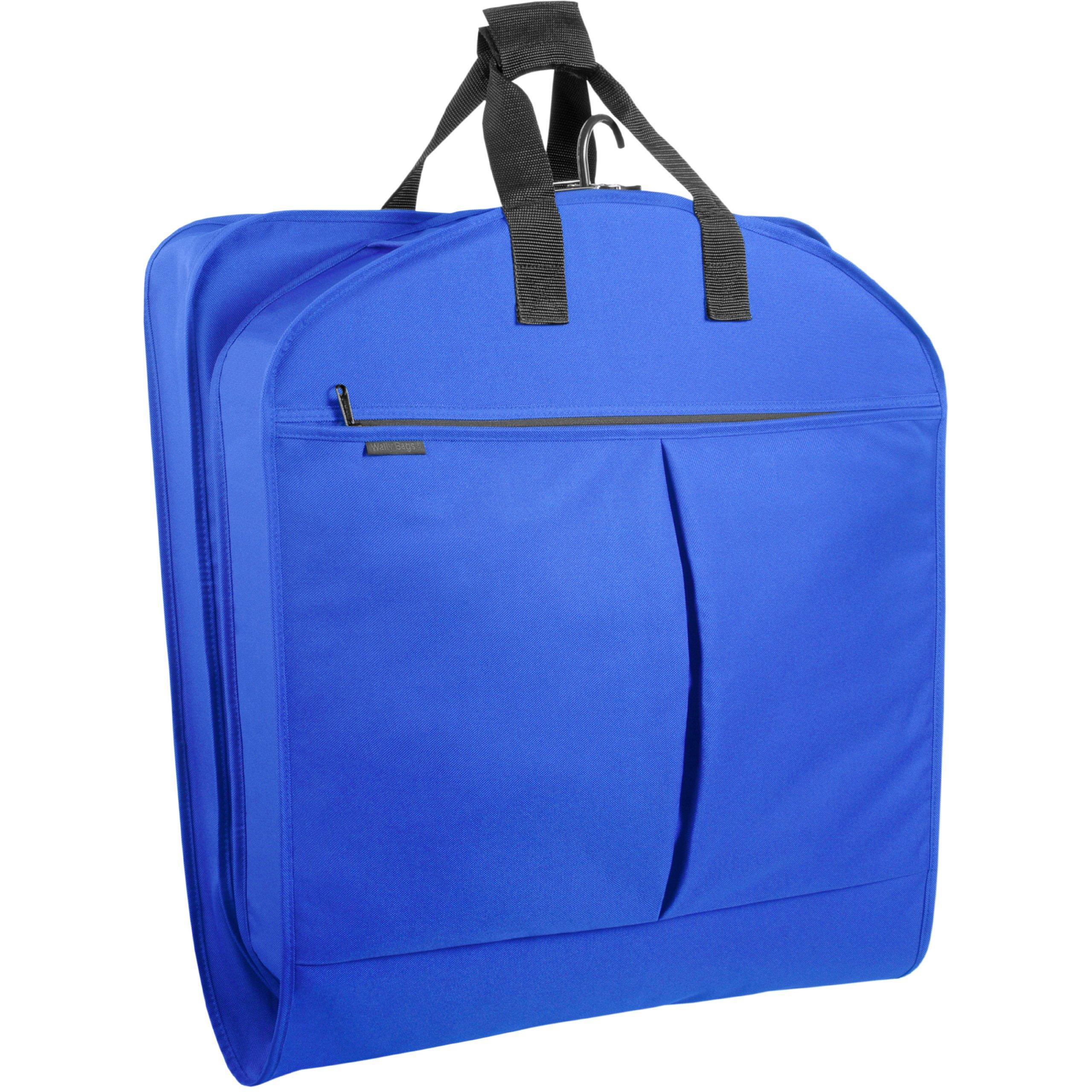 WallyBags Luggage 52'' Garment Bag with Pockets, Royal Blue